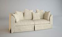 j keswick sofa interior 3d model