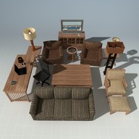 max designer living room set