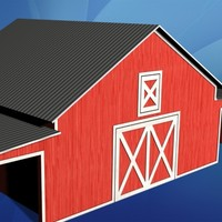 miniature barn 3d model