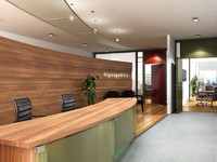 Office Reception area with desk