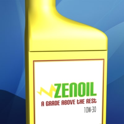 Engine oil quart container 3d 3ds for Motor oil storage container