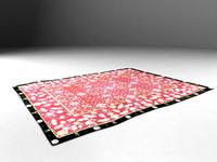 3d model elegant rug