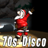 santa claus dancing disco 3d model