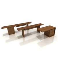 3d model of table bar