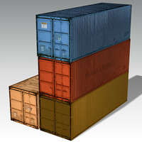 containers games 3d model