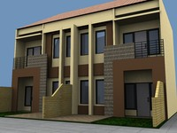 3d model townhouse office house