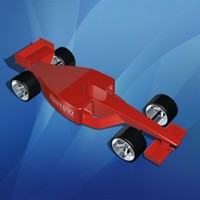 3d model toy formula 1 race car