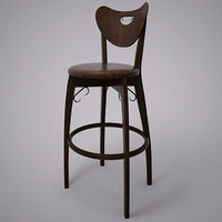 lui 1a bar stool 3d model