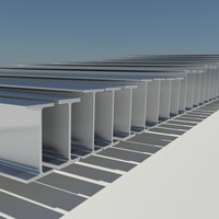 structural steel universal beams 3d model