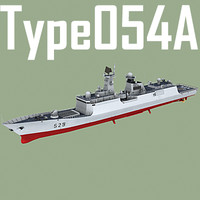 Chinese Navy Type 054/A Jiangkai Class Missile Frigate (low polygon)