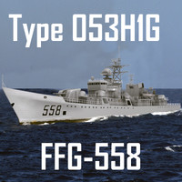 Chinese Navy Type 053H1G Jianghu-V Class Missile Frigate (low polygon)