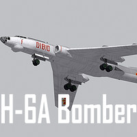 Chinese Air Force H-6A bomber (low polygon)