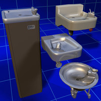 3d dxf drinking fountain 01