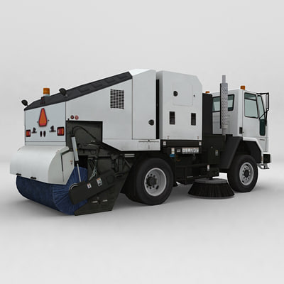 Low Polygon Garbage Truck