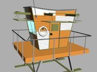 3d model life gaurd station