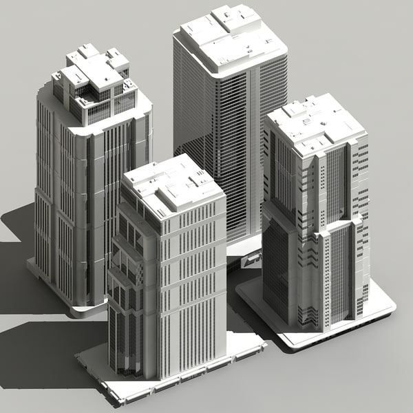 3d skyscraper sky scraper model - 3D_Skyscraper_pack_90.zip... by Giimann