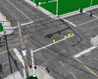 3d city roads model