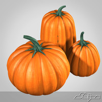 3d model pumpkins