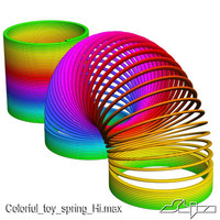 Colorful toy spring