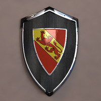 knight shield lion blazon