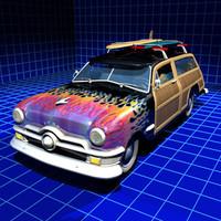 woody auto sedan single 3d model