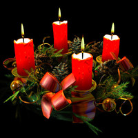 advent wreath christmas decoration 3d lwo