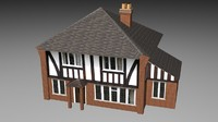 3d max house mock tudor