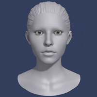 3d model polygonal female head