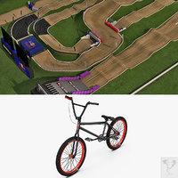 bmx track bike 3d model