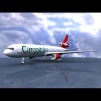 dc-10 cargo italia 3d 3ds