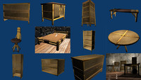 furniture polys 3d model