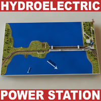 hydroelectric power station v2 3d model