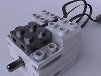 3d lego efficiency motor servo model