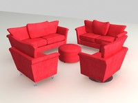 3d suite furniture sofa armchair