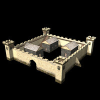 ancient castle roman 3d model