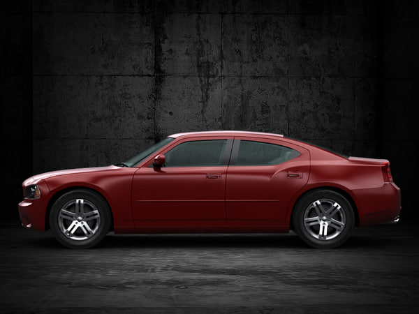 car architecture visualization max - 2010 Dodge Charger... by ArchCars
