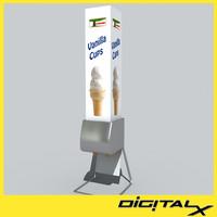 cone dispenser 3d model