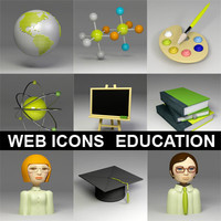(s) Education icons