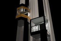 3d elevator set