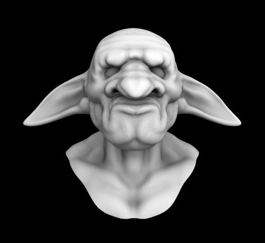 A head of a Goblin