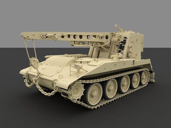 3d light armored recovery vehicle model - M578 Light Armored Recovery Vehicle... by MillieModels
