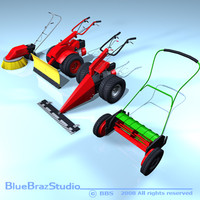 3d c4d mower sweeper