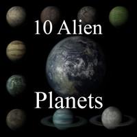 10 alien planets 3d max