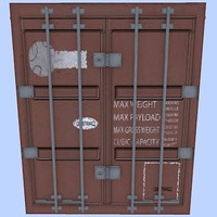 45 shipping container 3d model
