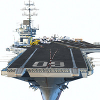 3d forrestal supercarrier uss model