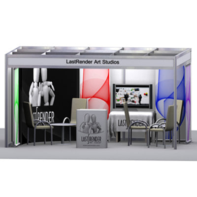 fair stand exhibition 3d model - Exhibition Stand... by lastrender