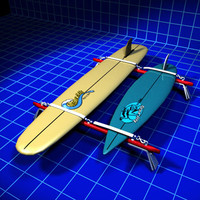 3d model surf board rack vintage