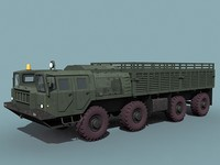 soviet maz-7310 uragan cargo 3d model