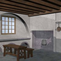 medieval kitchen 3d 3ds