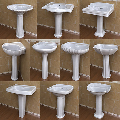 10 Pedestal Lavatory Collections